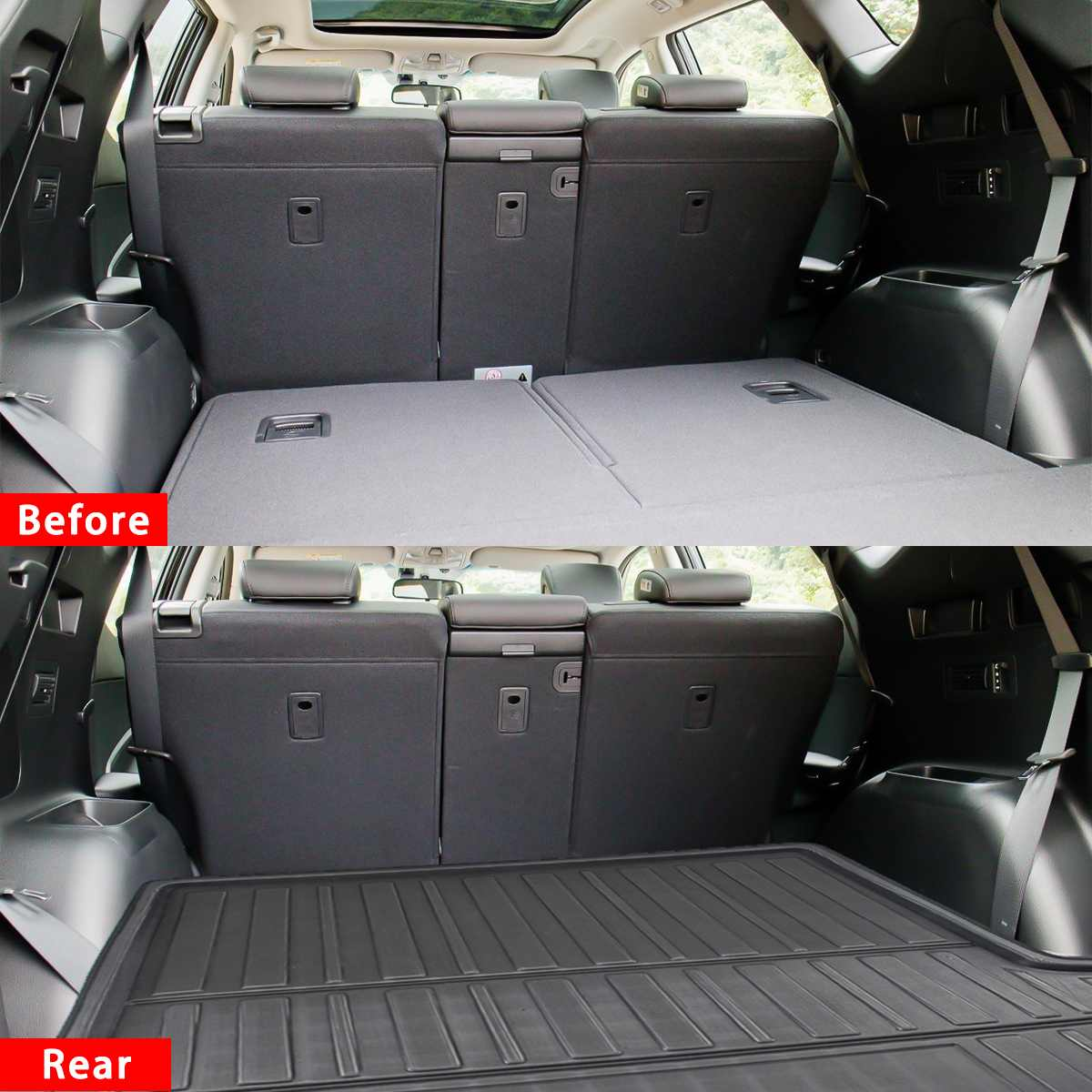 Floor-Carpet Hyundai Santa-Fe Trunk-Cover Matt-Mat Car-Tray Cargo Non-Slip for Mud Rear title=
