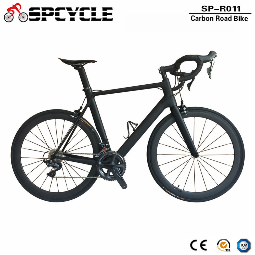 Spcycle 2018 New Carbon Road Bike Complete Road Bicycle With 50mm Carbon Wheels Ultegra 5800/R8000/9000 Groupset Available