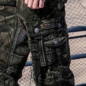 Image 5 - Cam Phối Hàng Quần Áo Làm Quần Áo Đa Năng Bỏ Túi Quân Nhiệt Pantalon Nam Quân Sự Ngụy Trang Quần Áo Mới Quần Cotton 164