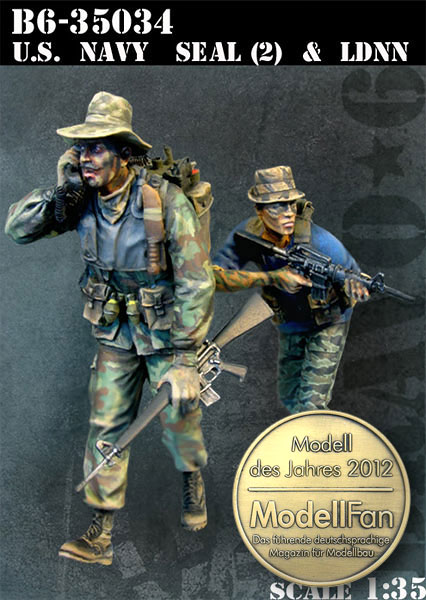 1/35 resin figures model kit Vietnam War US soldiers (2pcs/lot) Unpainted XD156 image