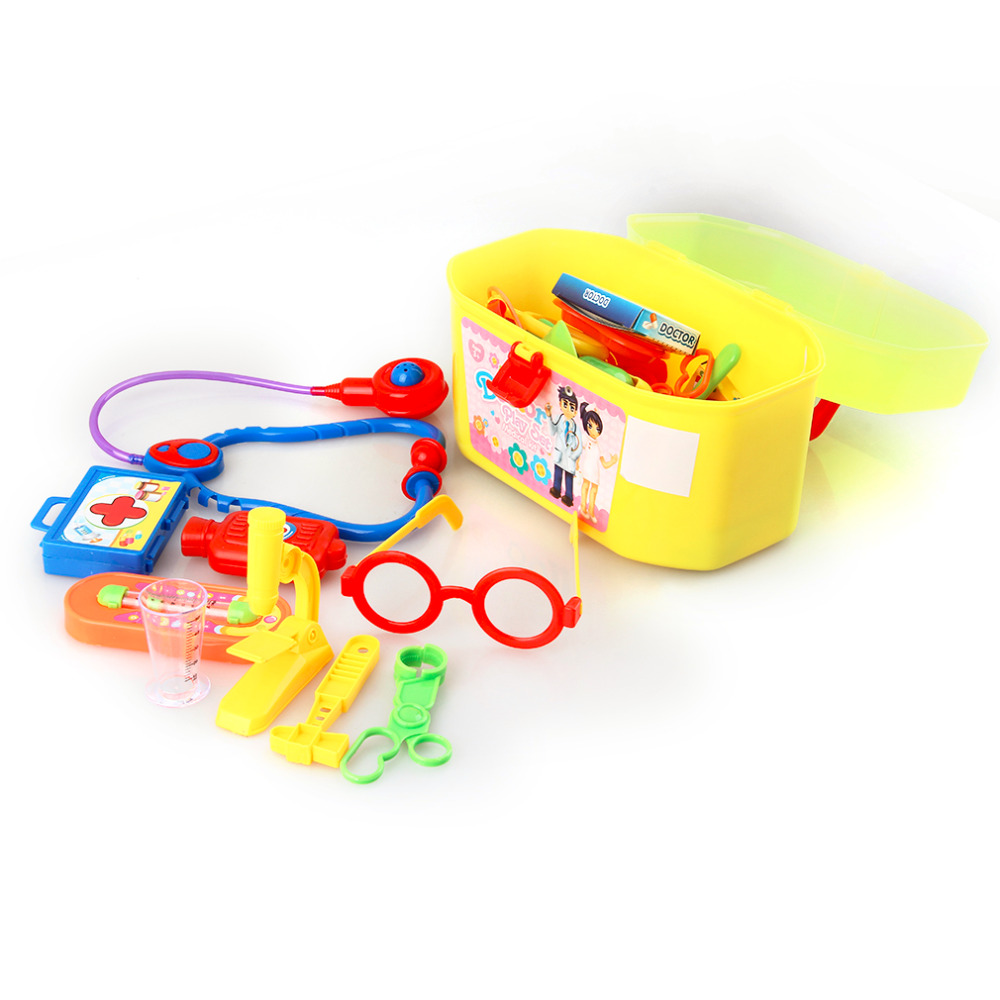 1 Set 29pcs Mini Kids Doctor Nurse Medical Plastic Role Plays Set Case Baby Kit Popular