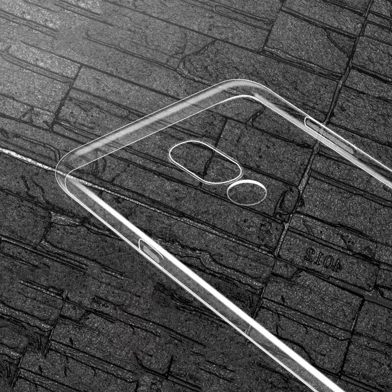 Limpar soft case Para MEIZU 15, 15 PLUS tampa do caso TPU silicone Transparente anti-queda PARA M15plus 15 PLUS FINO com Tudo incluído