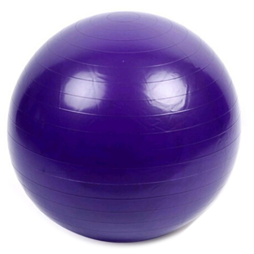 Balancing Stability Ball for Yoga Pilates Anti-Burst + Air Pump Purple 75 cm