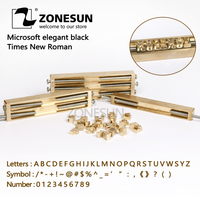 ZONESUN Brass letter,CNC engraving mold,hot foil stamp,number,alphabet mold,symbol customized font,DIY leather embossing die cut