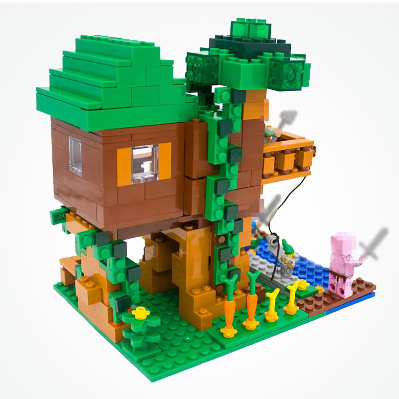 Minecraft Street: Minecraft The Jungle Tree House Model Building Blocks DIY
