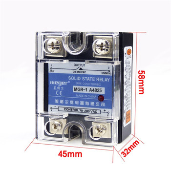 10pcs/lot SSR 25A AC-AC Solid state relay Quality Goods MGR-1 A4825