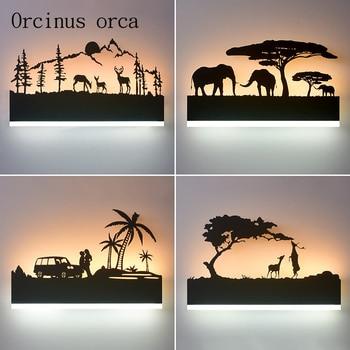 Nordic minimalist LED wall lamp living room aisle bedroom bedside lamp modern creative shadow mirror headlights free shipping