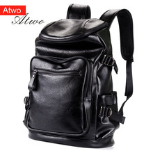 ATWO Backpack men  casual Fashion Men Bag Water Proof pu Synthetic Leather