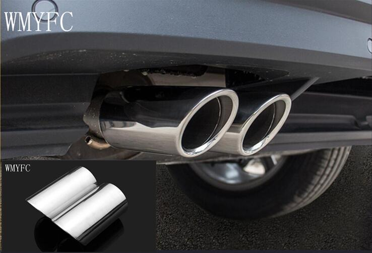 Stainless Steel Exhaust Muffler Tip Fit For vw Tiguan 2017 2018 Tail pipes