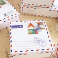 Hot Sale 14*14*6.5cm 10pcs envelope travel design Cheese Cake Paper Box Cookie Container gift Packaging Wedding Christmas Use