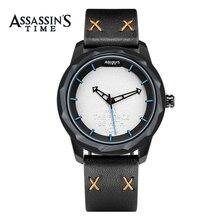 Часы Assassin's Mens Watches Лучшие бренды Роскошные водонепроницаемые кварцевые часы Мужские кожаные спортивные наручные часы Часы Мужские водонепроницаемые