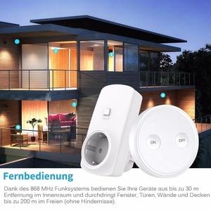 Image 5 - ワイヤレスソケット EU プラグアウトレットミニポータブルリモコン 200 メートル光ファンホームデバイス 10a 無線 Lan なしアプリ簡単 tp 使用