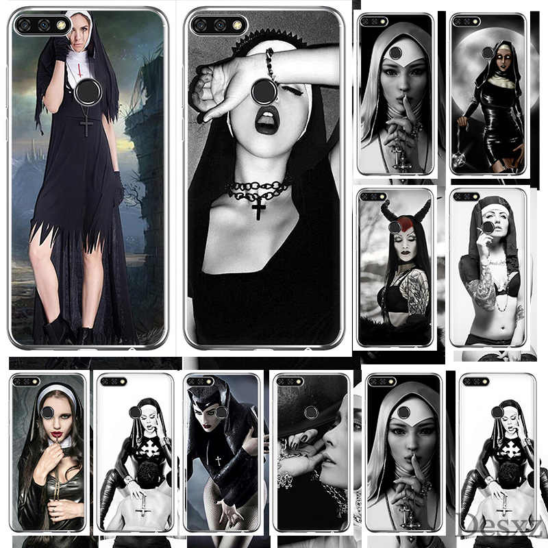 Nun Sexy Girl Phone Case Cover For Huawei Honor 6A 7A 7C 6C 7X Pro 8 8X 9 10 Lite Play