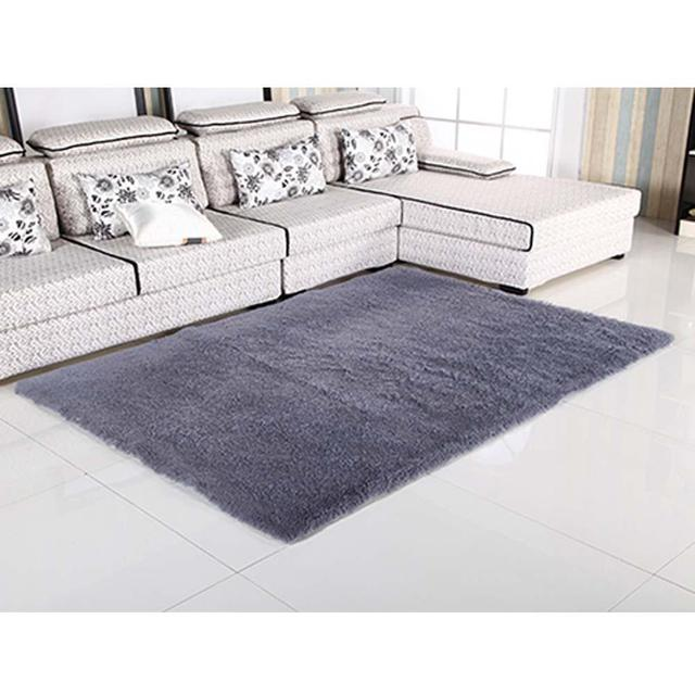 New Fluffy Rug Anti Skiding Shaggy Area Dining Room Carpet Floor Mat Gray Rugs Shag APJ