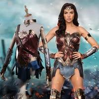 2017 Movie Wonder Woman Cosplay Costume Full Set Justice Diana Princess Sexy Costume Cosplay Halloween Fancy