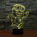 Cute Running Minions 3D Light LED Night Light Colorful Gradient Table Lamp with USB Cable Novelty Light as Kids Bedroom Lampara