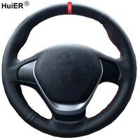 غطاء عجلة قيادة السيارة من HuiER بخياطة يدوية لون أحمر لسيارة BMW F20 2012 2018 F45 2014 2018 F30 F31 F34 2013 2017 F32 F33 F36-في أغطية توجيه من السيارات والدراجات النارية على