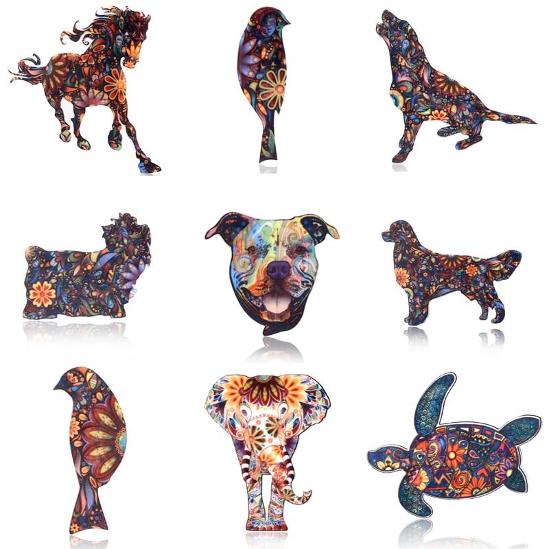 Акриловые животные слон кошки Брошь - Модные украшения