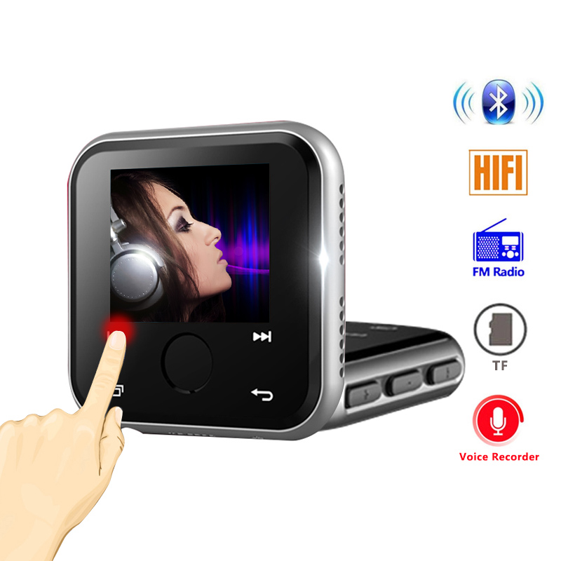 Portable Bluetooth MP3 Player metal Lossless HiFi Sports Bluetooth MP3 Music Player 1 4 inch Screen