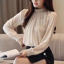 Fashion Women Long Sleeve Casual Korean Type Loose Chiffon Shirts Blouses