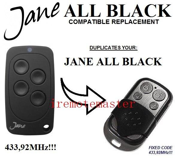 Jane Garage Door Remote Replacement Transmitter Fixed Code 43392mhz