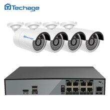 Techage H.265 8-канальный 4.0MP PoE NVR системы видеонаблюдения 4 шт. POE ip-камера 2592*1520 ИК Крытый Открытый видео комплект видеонаблюдения