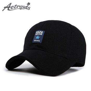 AETRENDS hombres sombrero verano Rusia negro gorra de camionero mark hip  hop gorra de béisbol 761af02a3b3