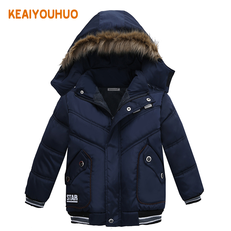 Winter Baby Warm Down Coat Baby Boys Girls Coat Jacket Hooded Long Sleeve Children Solid Kids Outerwear Fashion Snowsuit