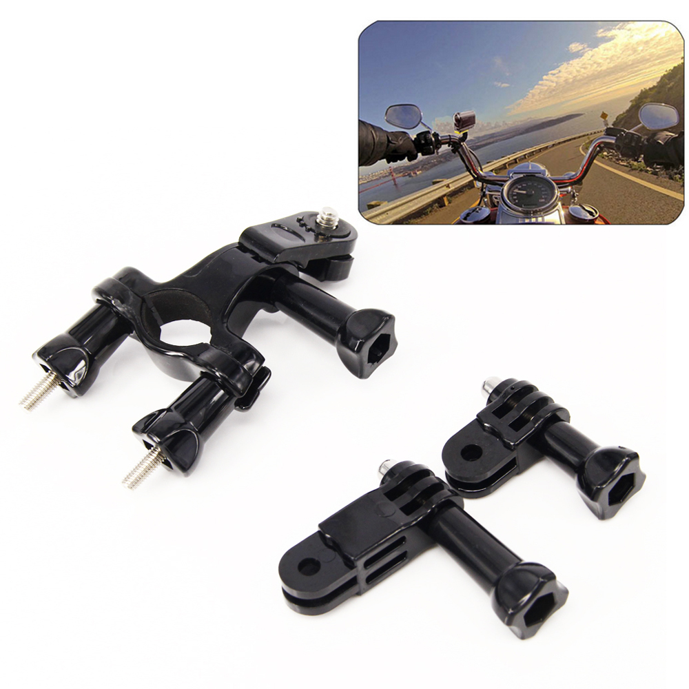 Al aire libre bicicleta manillar de la motocicleta titular kits para Sony Action Cam accesorios para Sony HDR-AS100V AS20 AS30V AS200V FDR-X1000V