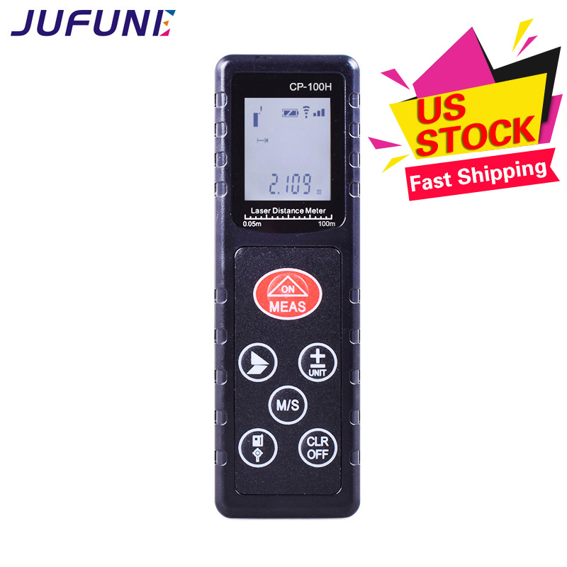 Jufune CP-100H 100m Mini Laser Distance Meter Digital Tape Measurer cp 3007 1 8 lcd ultrasonic distance measurer with red laser pointer 1x6f22