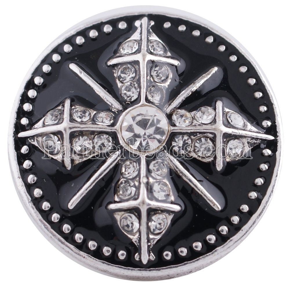 Partnerbeads Wholesale cross ginger snaps Bangles&Bracelets fit 18MM snaps buttons Jewelry KC8624