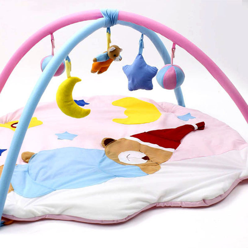 Baby toys educational play mat infant blanket crawing play rug develop soft cute animal activity infant sleeping game mattress 4