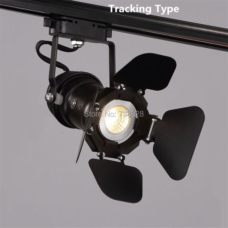 Us 35 92 60 Off Retro Track Lights Led Wall Tracking Lighting Rail Ceiling Lamps Clothing Shoes Shops Stores Loft Rh Rural Industrial Spot Lamp In