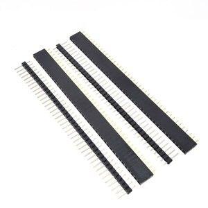 Image 5 - Бесплатная доставка, 1 партия = 10 шт., 1x40 контактов, 2,54 мм, Однорядный женский + 10 шт., 1x40 штырьковый разъем