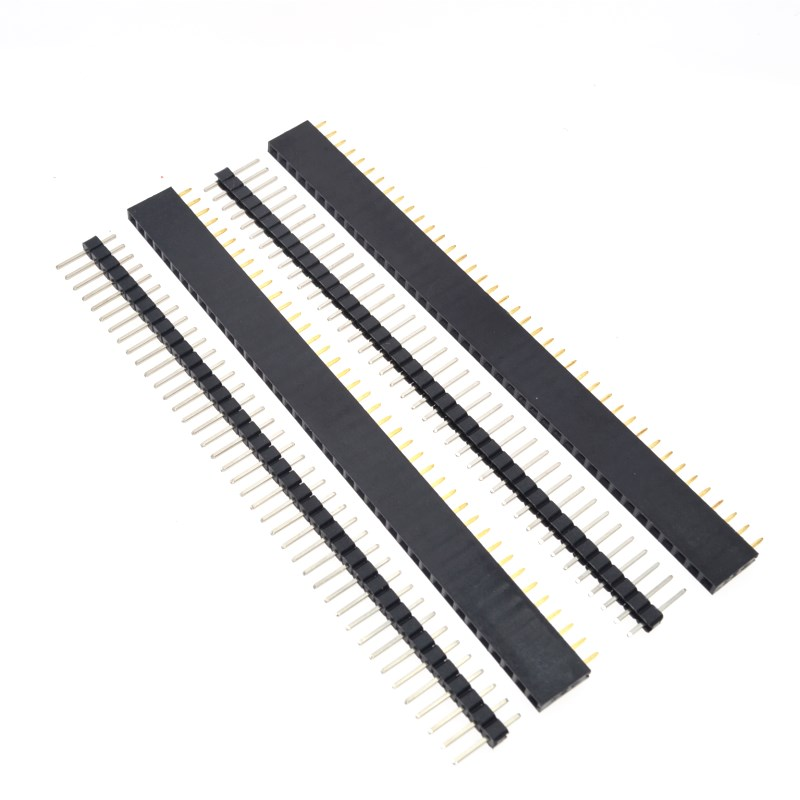 Image 5 - Free Shipping 1lot=10pcs 1x40 Pin 2.54mm Single Row Female + 10pcs 1x40 Male Pin Header connector-in Integrated Circuits from Electronic Components & Supplies