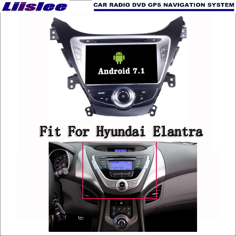 Android 7.1 2G RAM For Hyundai Elantra 2011~2015 Car Radio Audio Video Multimedia DVD Player WIFI DVR GPS Navi Navigation lsqstar st 9079c 7 android car dvd player w 1gb ram 8gb rom gps wi fi for hyundai elantra
