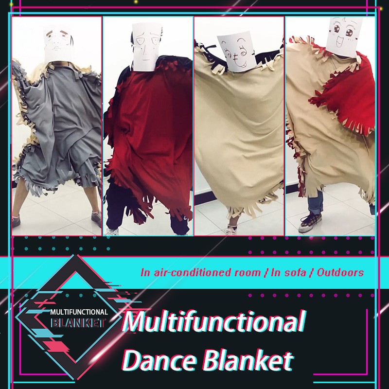 [Milky Way]Newest YouTube The Blanket Dancing Double Layer Fleece Blanket For Sofa Air-conditioning Room Office Warm blankets