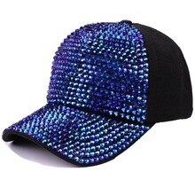 2019 Summer Rhinestone Sunhats Unisex Snapback Fashion Chic Shimmer Sports Hat Adjustable Boy Girls Sun Cap