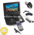 Freeshipping !2014 New Arrival Cheap 7 inch MINI portable DVD player USB portable DVD(size:220*190*42cm)