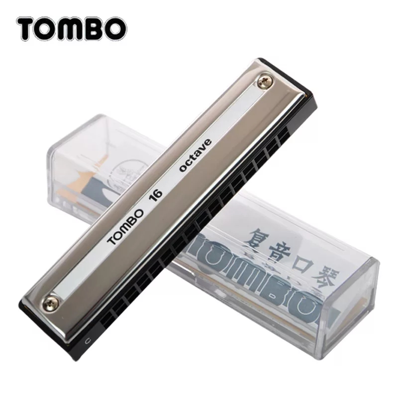 цена на Tombo Octave 16 Harmonica 16 Holes 32 Reeds 16 Tones Harp Key C Mouth Organ Brass Reeds Musical Instruments Beginners Tombo 9516