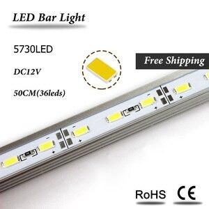 Image 2 - 5 قطعة/الوحدة 50 سنتيمتر LED بار ضوء 5730 فولت شكل الزاوية الألومنيوم الشخصي مع غطاء منحني ، جدار الزاوية ضوء DC12V ، LED إضاءة الخزانة