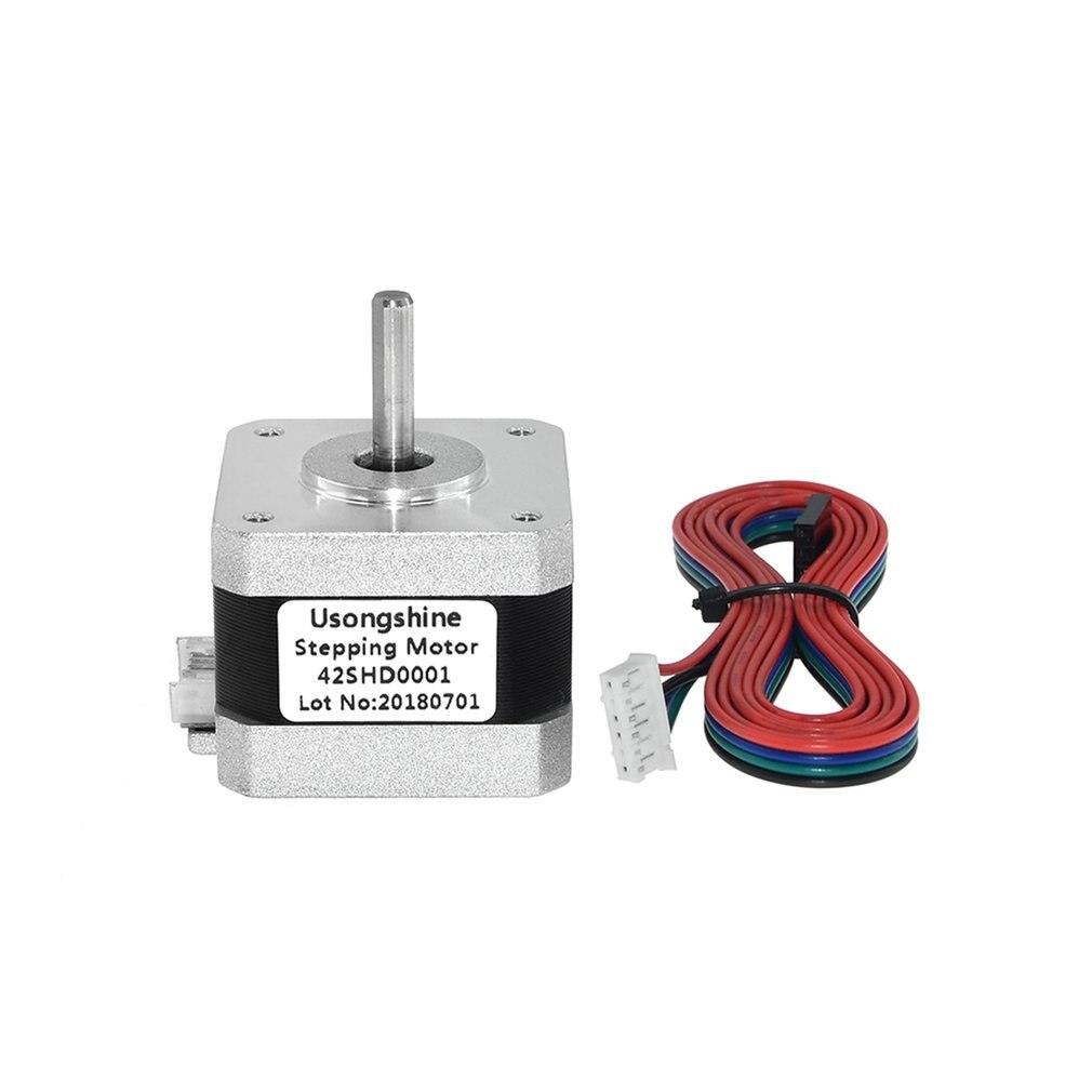 42SHD0001 Nema 17 Stepper Motor 4-lead Bipolar 34mm 12V 1.5A 26Ncm 1m Wire CE CNC Laser And 3D Printer Motor 3D Printer Part