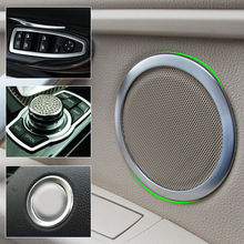 beler Window Switch Panel Cover + Door Speaker Trim + Steering Wheel Ring + Multimedia Buttons Cover For BMW 3Series F30 F34 320
