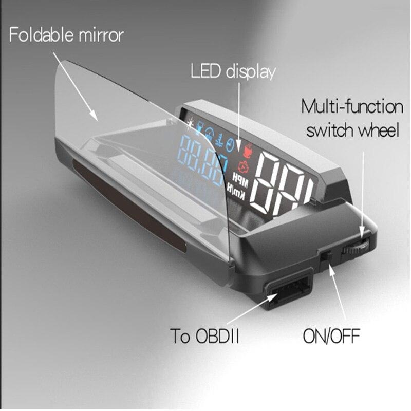 все цены на VJOYCAR HUD Head-up Display Overspeed Warning Automobile Windshied Project Car-styling OBDII Car HUD OBD2 Port Head Up Display 4 онлайн