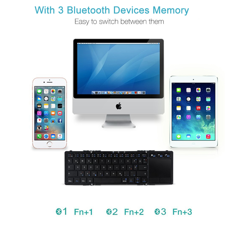 2 Foldable Keyboard Wireless