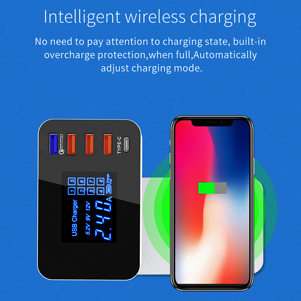 Wireless Charging UK Plug 5 Ports Universal Phone Fast