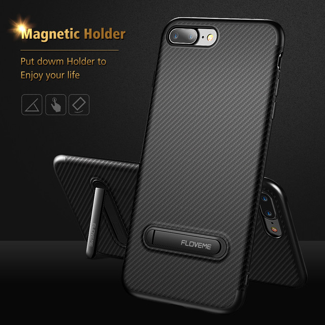 I X 8 Magnetic Stand Silicone Case For iPhone 7 Plus Phone Holder Cases  Soft TPU Luxury Thin Cover For iPhone X 8 6 6S Plus Case 699040d636