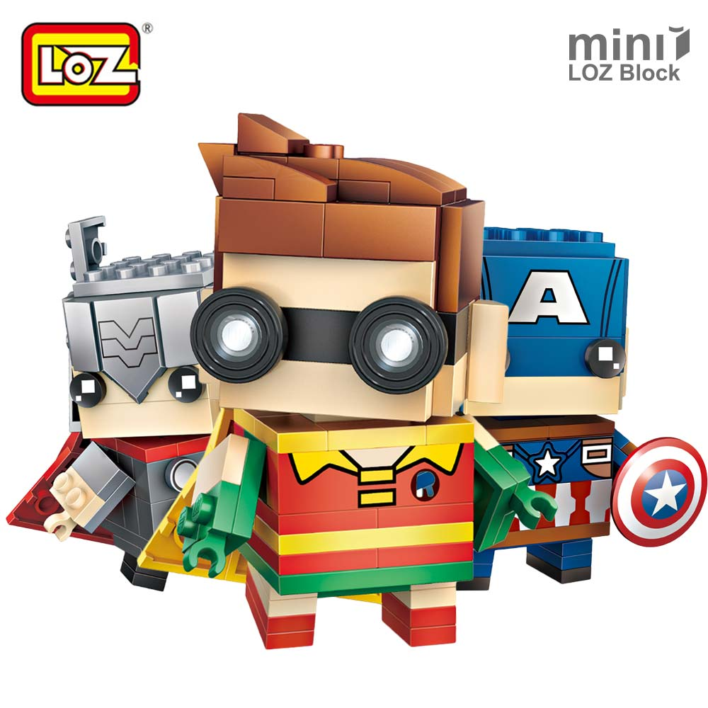 LOZ Mini Blocks Building Blocks Figures Super Heroes Toys for Children Character Clown Bricks Kids Assembly Model Figurine Gifts