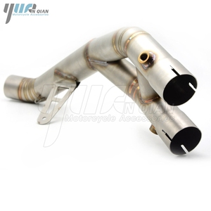 Image 2 - motorcycle accessories stainless steel  middle pipe of  the exhaust pipe For YAMAHA R1 2015 2016
