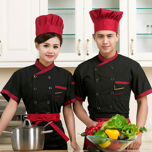 Image 4 - high quality 2020 Summer Short sleeved Chef service jackte Hotel working wear Restaurant work clothes Tooling uniform cook Tops